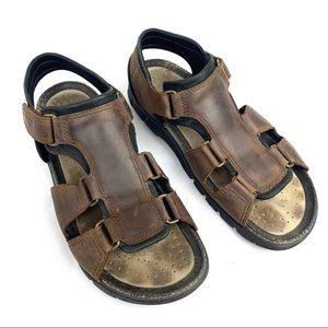 Ecco Cosmo Mens Sandal Size 44 Brown Open-toeShoe